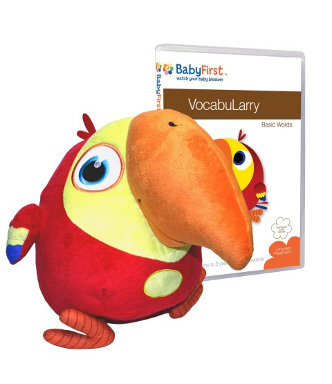 VocabuLarry Set 1 - Plush Toy and VocabuLarry - Basic Words DVD