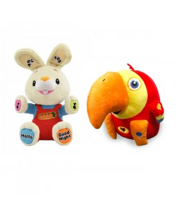 Interactive Plush Toys Collection - Harry the Bunny and VocabuLarry