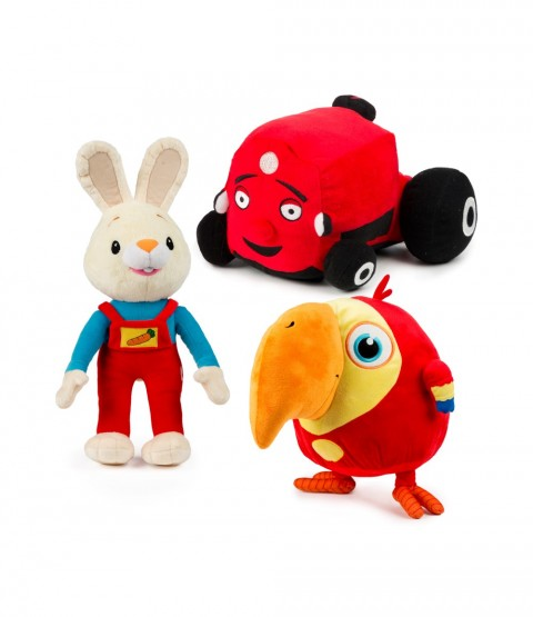 Harry the Bunny, Tec the Tractor and VocabuLarry Plush Collection