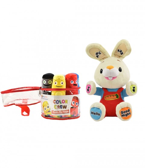 Interactive Plush Toys Collection - Harry the Bunny Sing & Play and Color Crew Plush Set